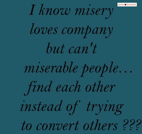 misery loves company mindtamer